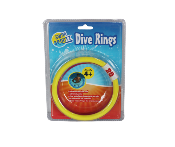 Dive rings set of 4 great for kids and teenagers
