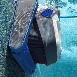 Dolphin 300 Pool Cleaner cleaning pool wall