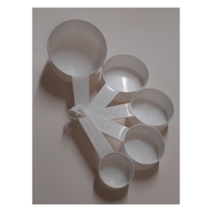 Measuring cup set 5 white expanded