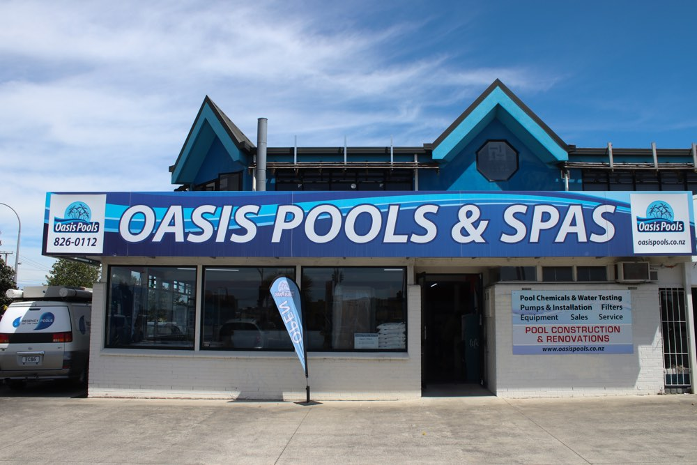 Oasis Pools are your pool and spa specialists located in this New Lynn Store
